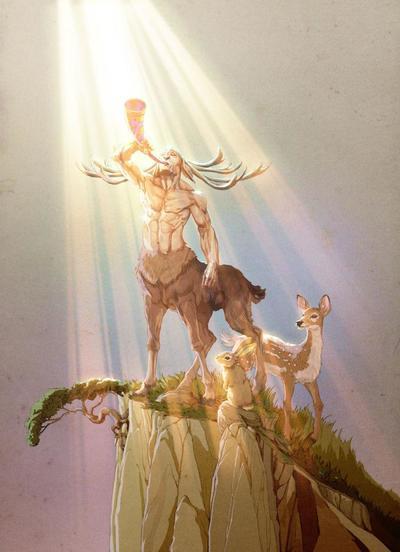 centaur-mytologic-fanatsy-horn-rabbit-fawn