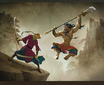 sword-fight-mongol-vs-chinesse-fantasy-cheetah-lion