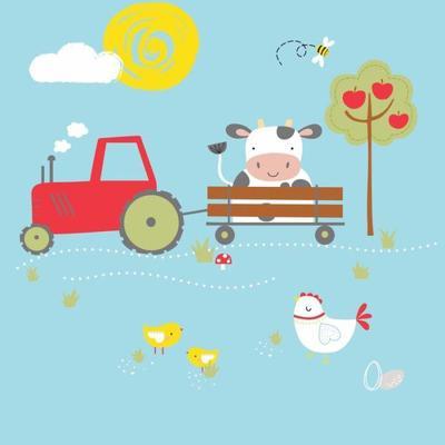 farmyard-cow-tractor