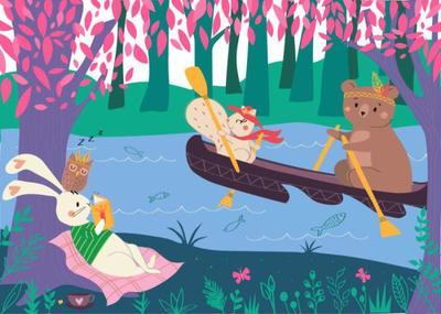 malulenzi-kidslit-canoeing-woodland-animals