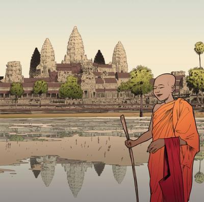 buddhist-monk-angkor-cambodia