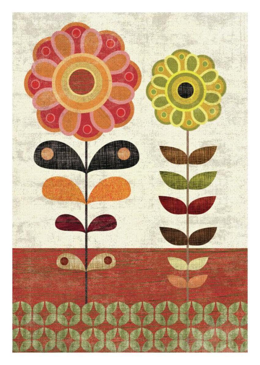 SAGE AND ORANGE Floral 3