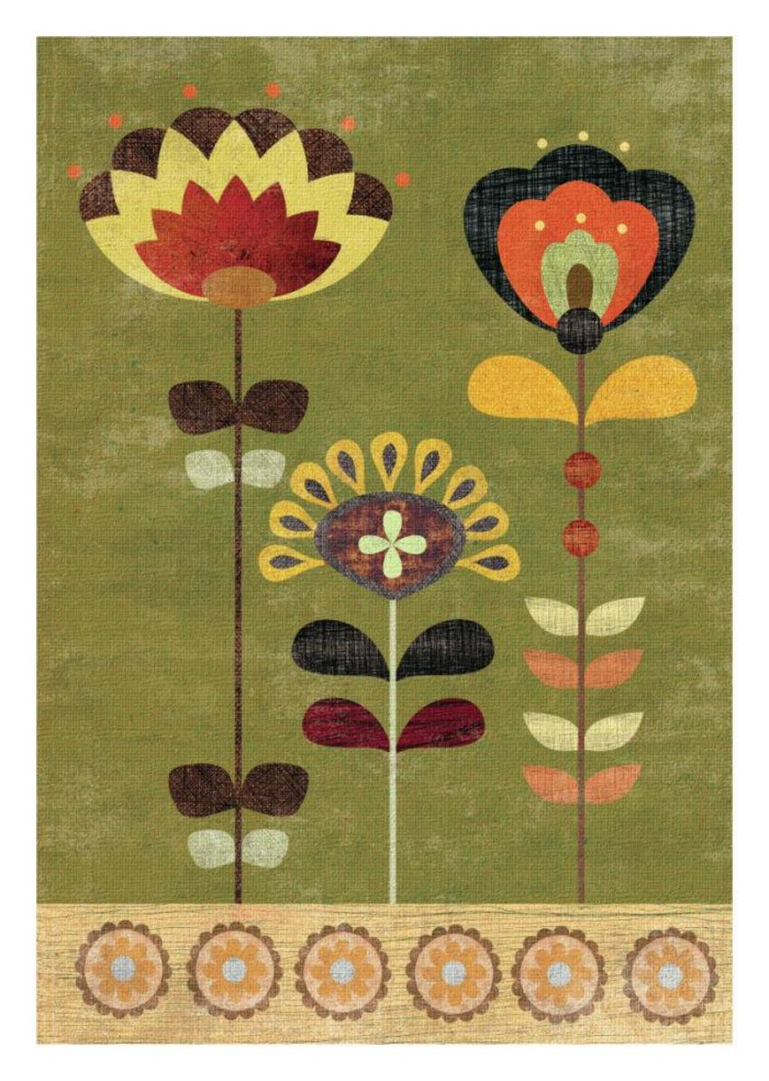 SAGE AND ORANGE Floral 1