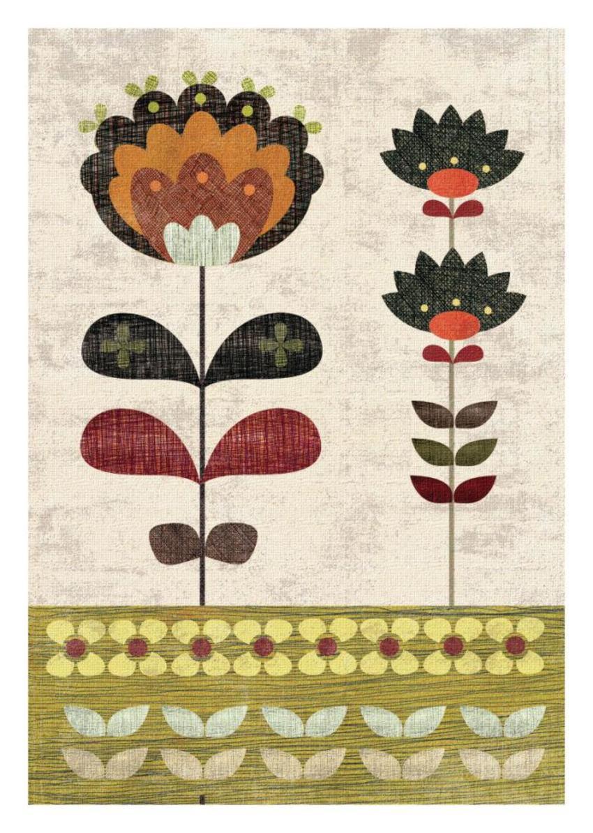 SAGE AND ORANGE Floral 2