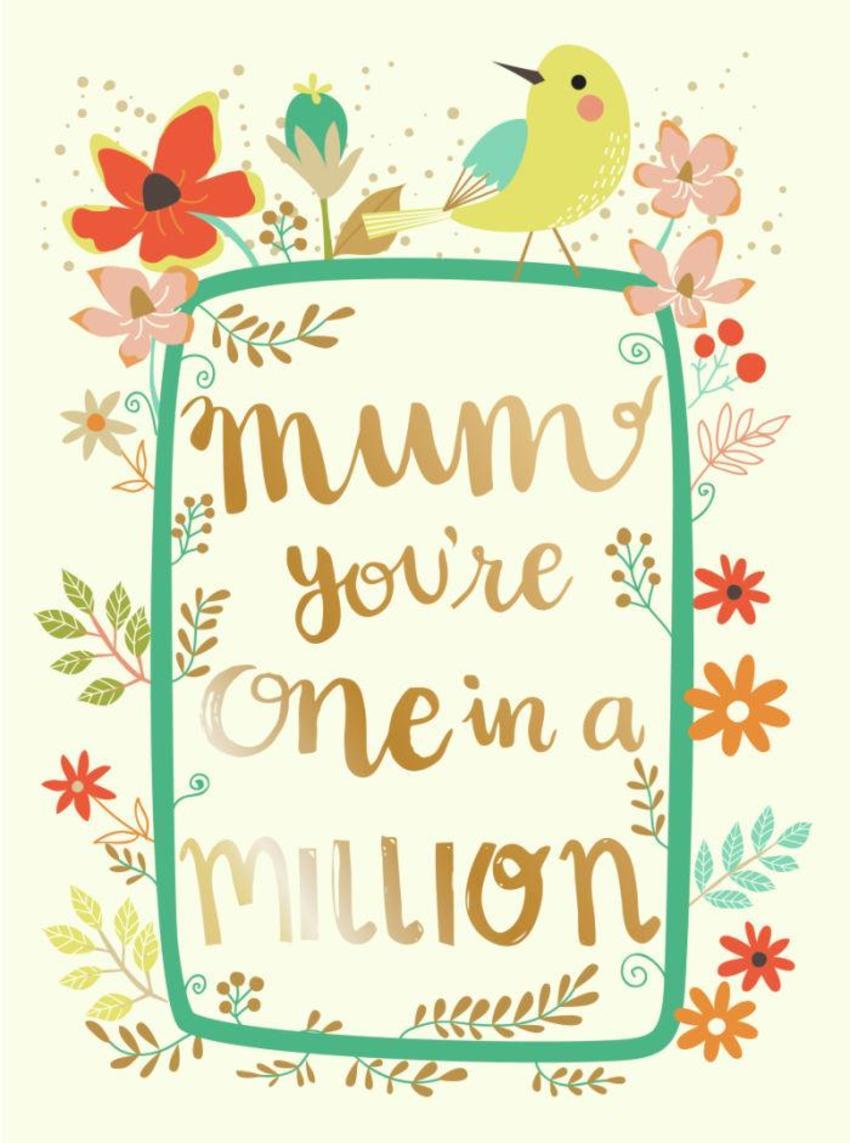 CARDS_08 Bird - Mum On In A Million - GM