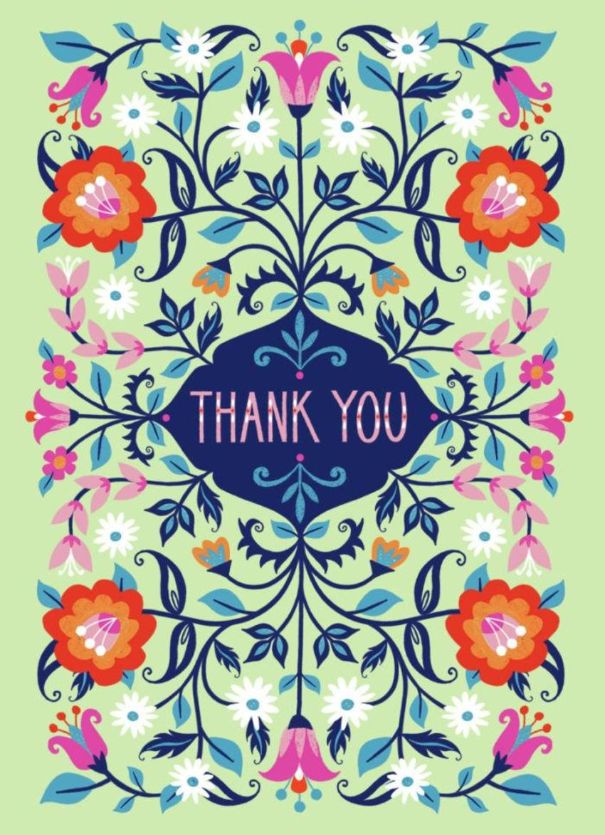Thank You Folk Flowers
