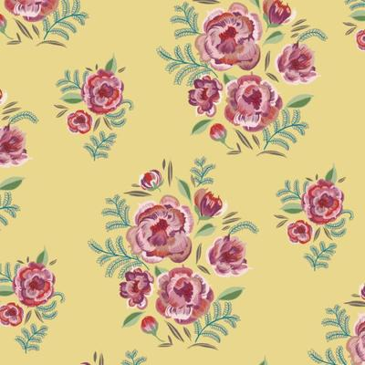 rose-bouquets-repeat-pattern-yellow-fl39-3