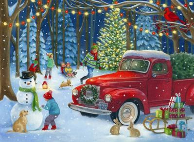 la-christmas-truck-snow-scene