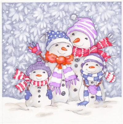 merry-snow-family