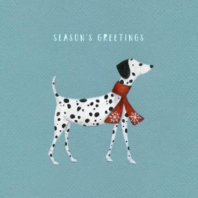 christmas-dalmatian-dog-scarf