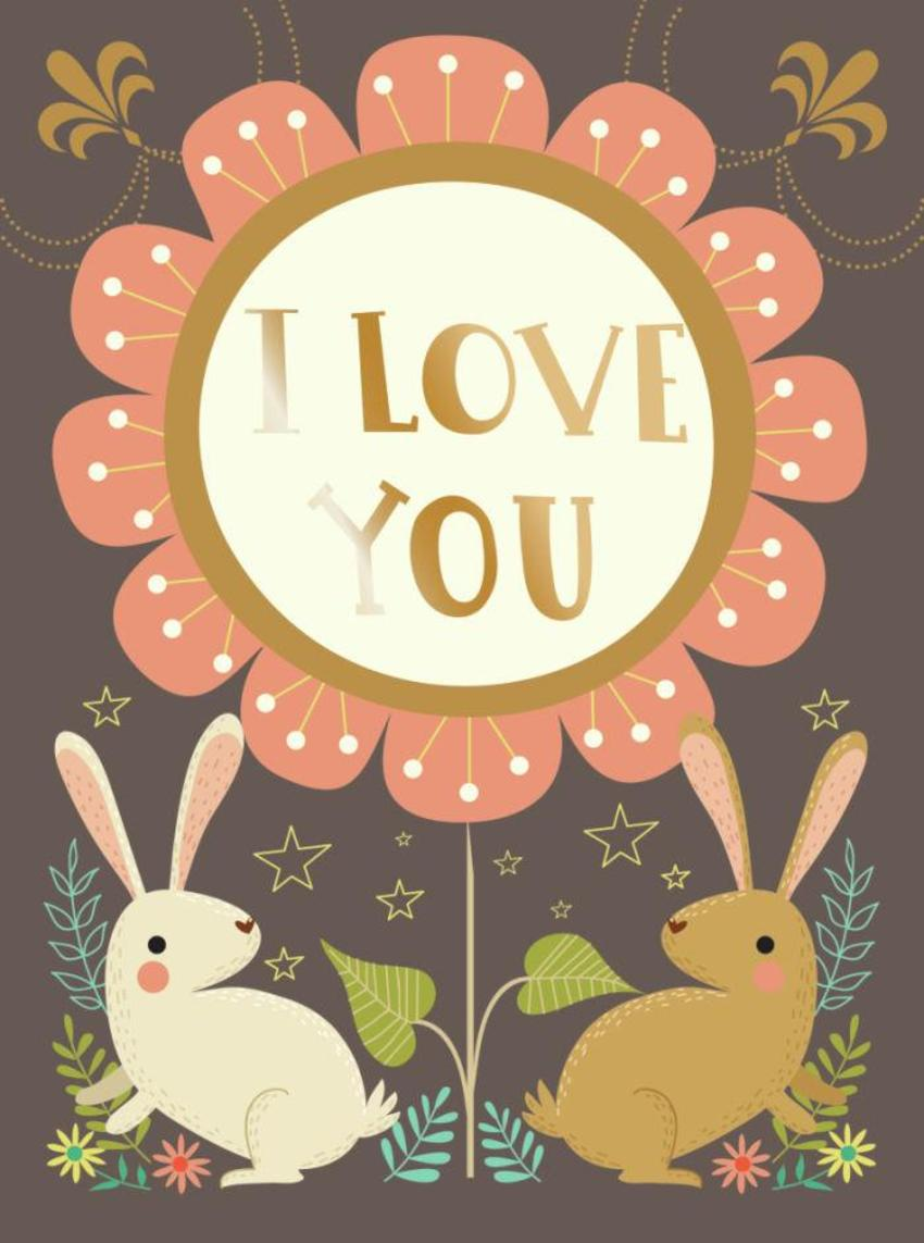CARDS_12 Rabbits - I Love You - GM