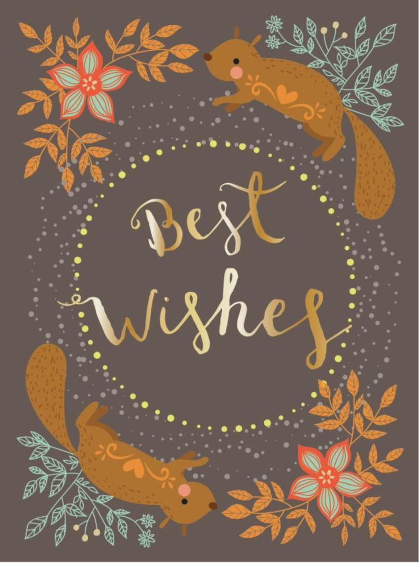 CARDS_02 Squirrel - Best Wishes - GM
