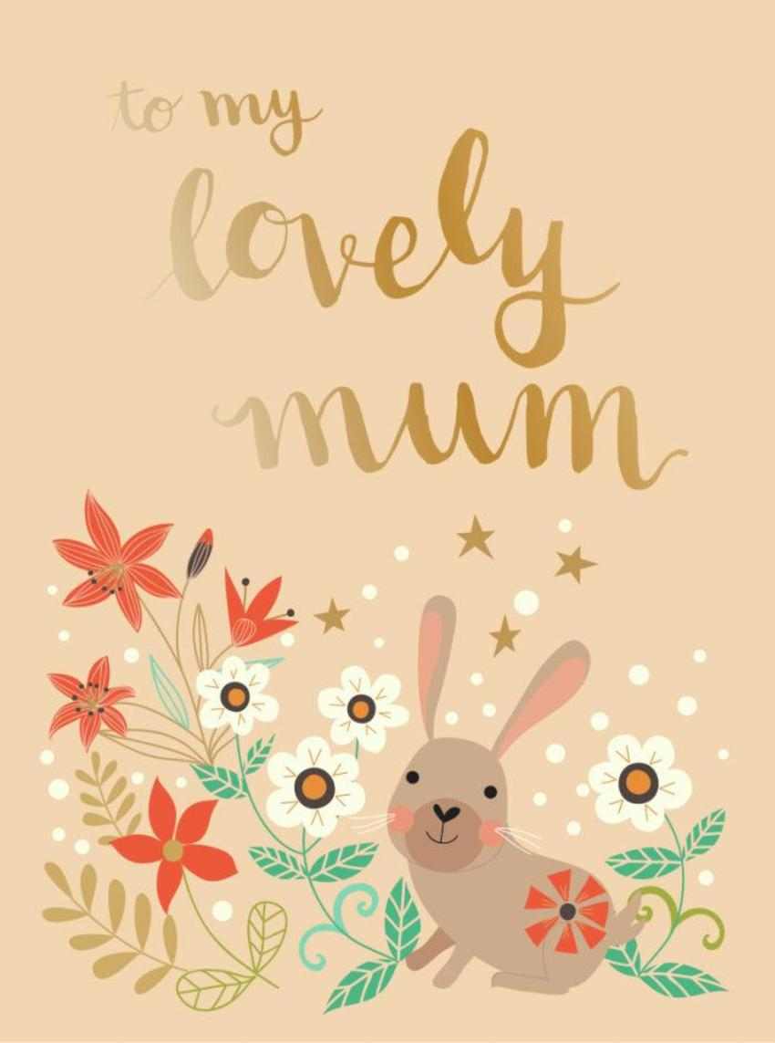 CARDS_05 Rabbits - To My Lovely Mum - GM