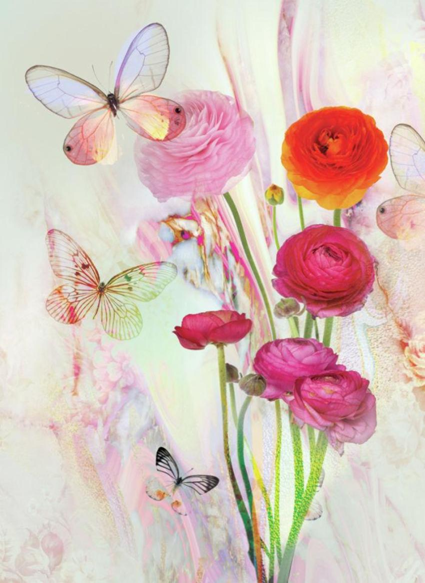 LSK Marble Peony Floral Butterfly Dream