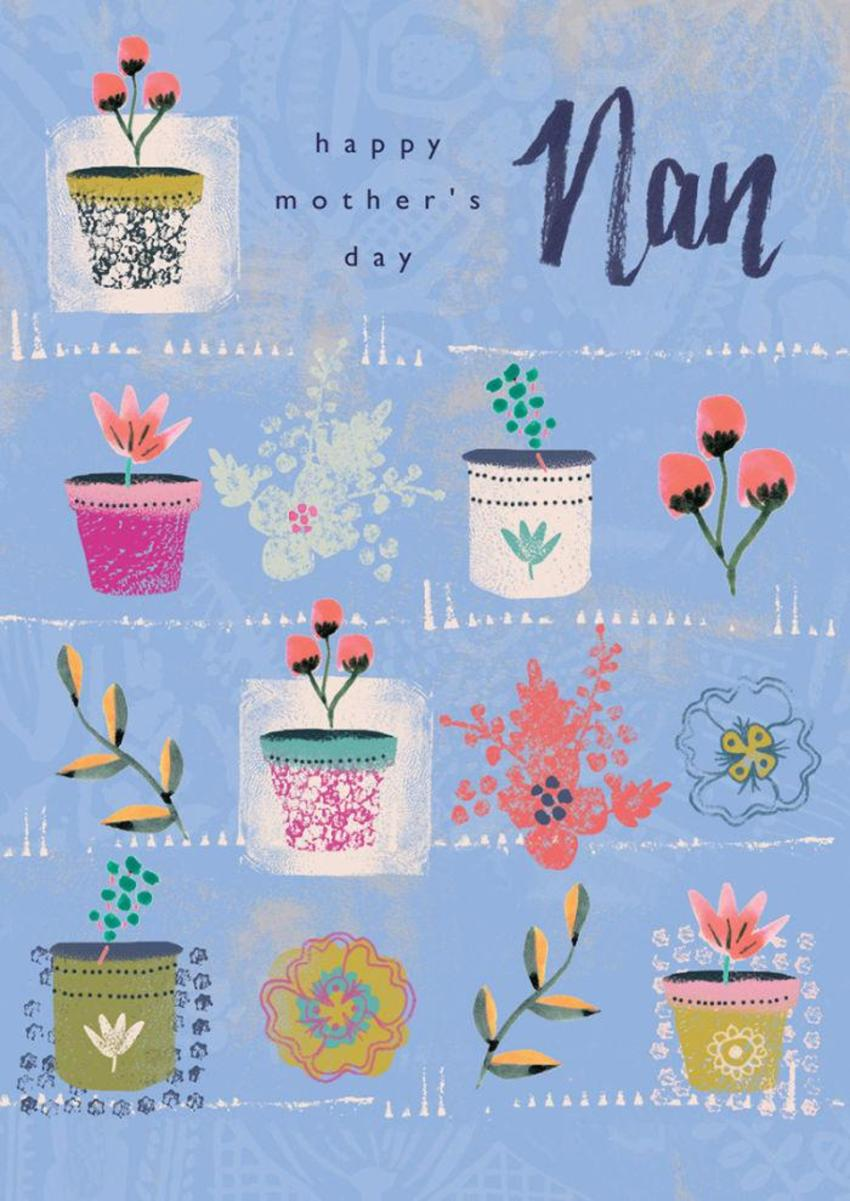 RP Patterned Plant Pots Floral Birthday Mothers Day
