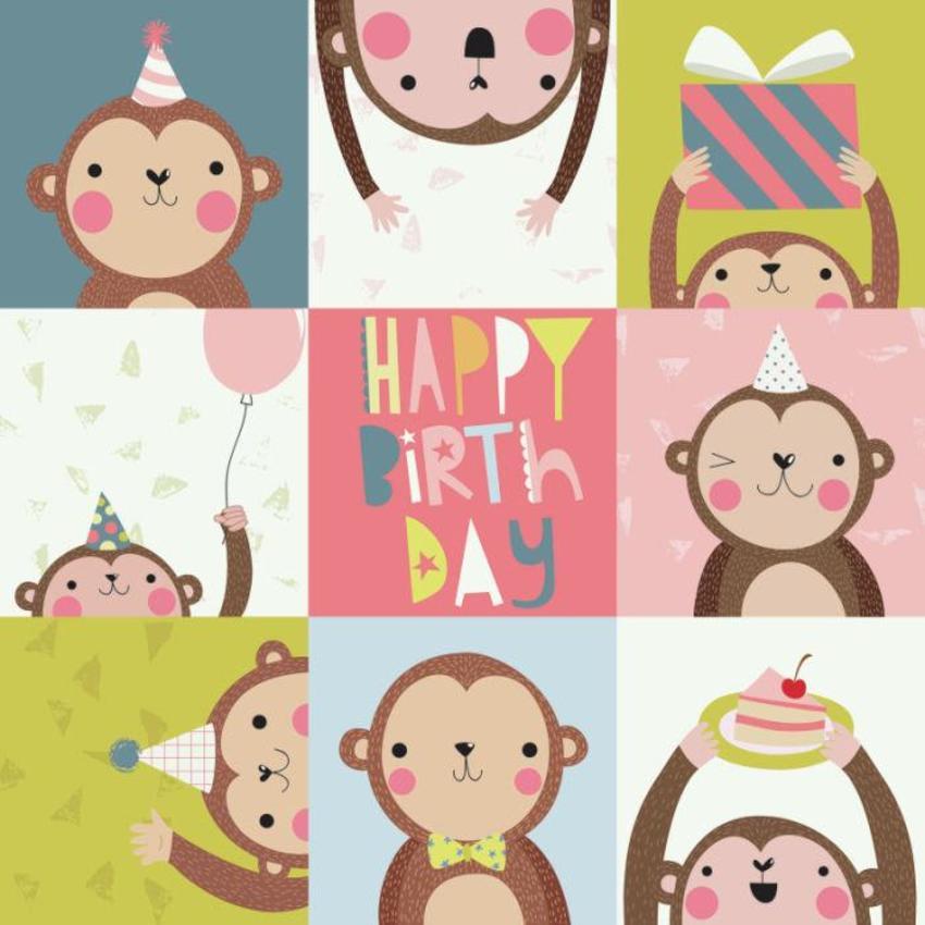 Monkeys - Happy Birthday - GM
