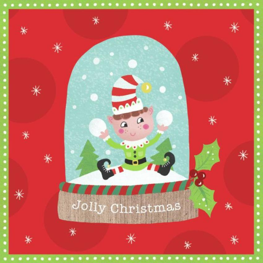 Christmas Elf Snowglobe