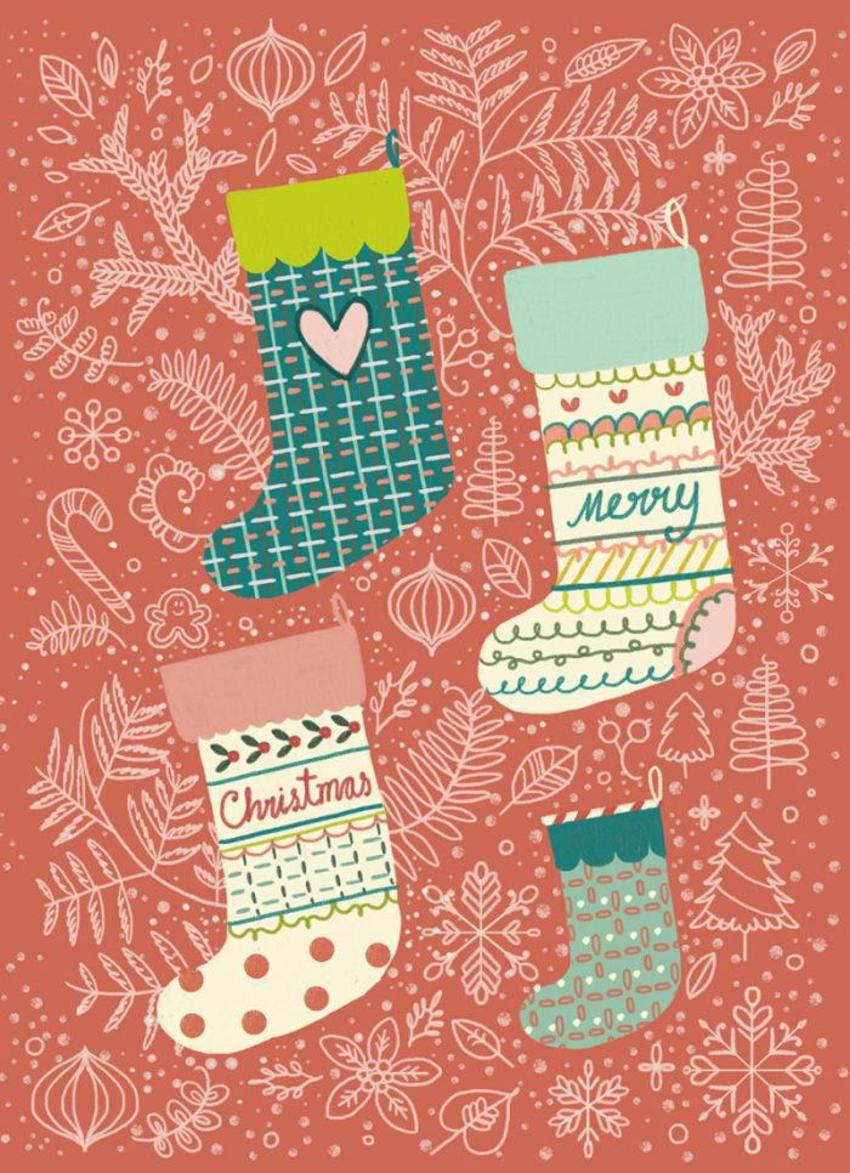 Greeting Card_Christmas_Stockings