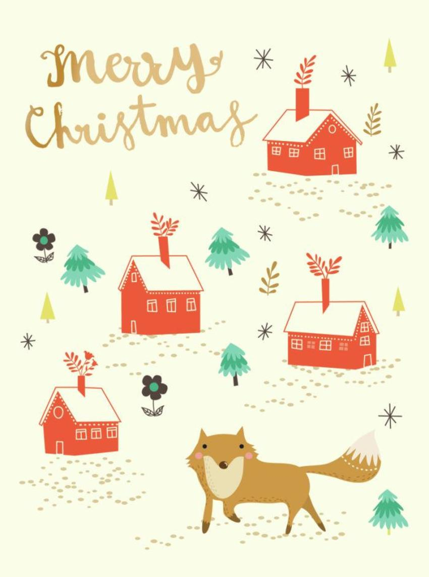 CARDS_10 Fox Town - Merry Christmas - GM