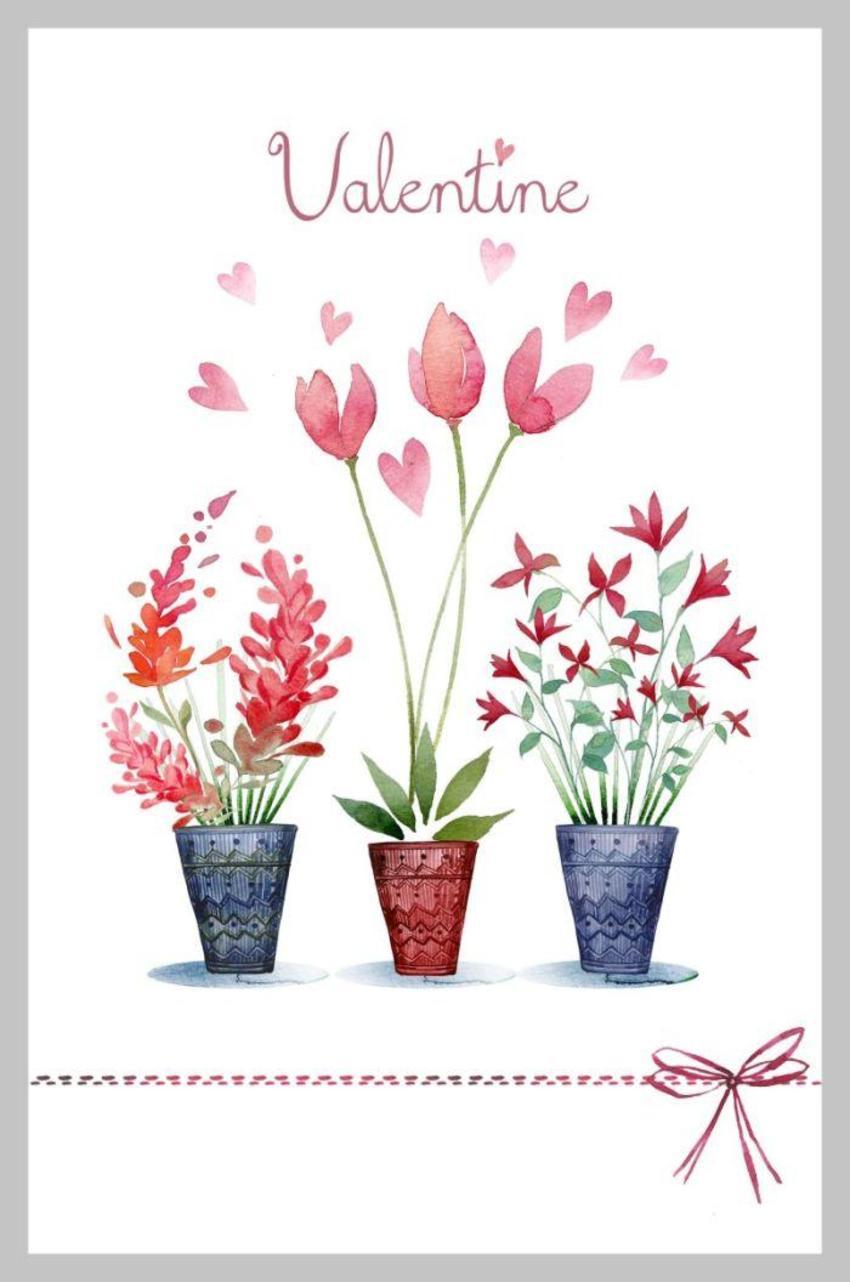 Valentines 3 Vases Copy