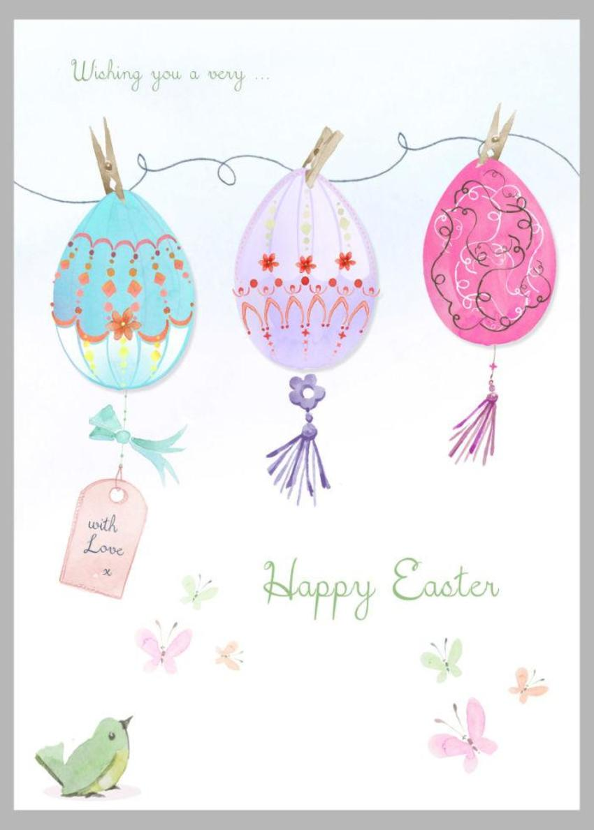 Easter Eggs On String Copy
