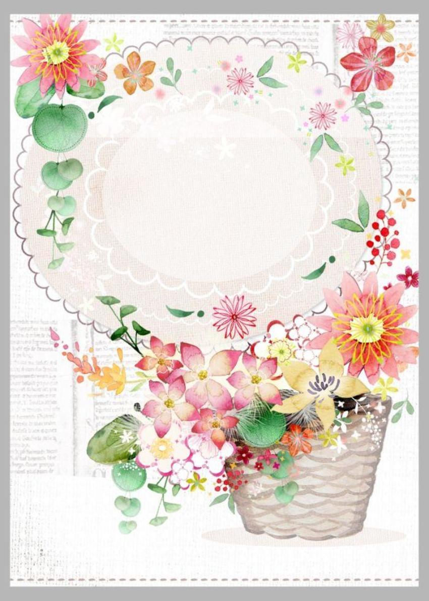 Basket Flowers Texture Copy