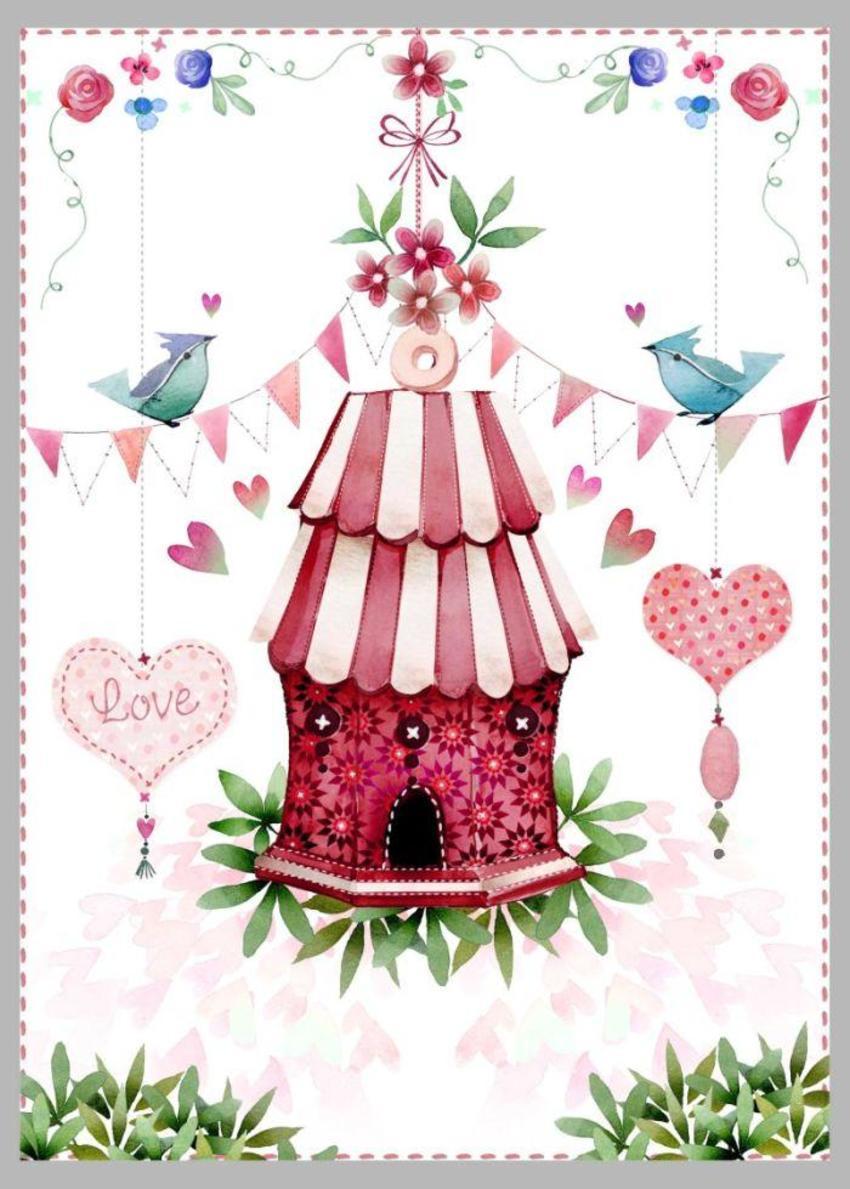 Valentine Birdhouse 1