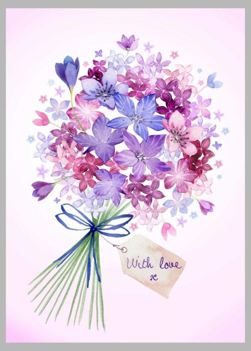 Bouquet Tag Mauve Copy