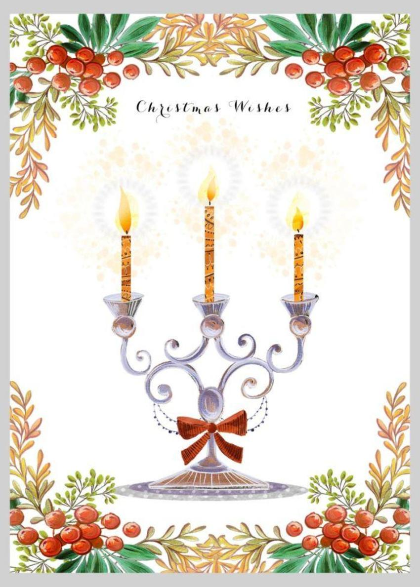Christmas Candelabra Candles