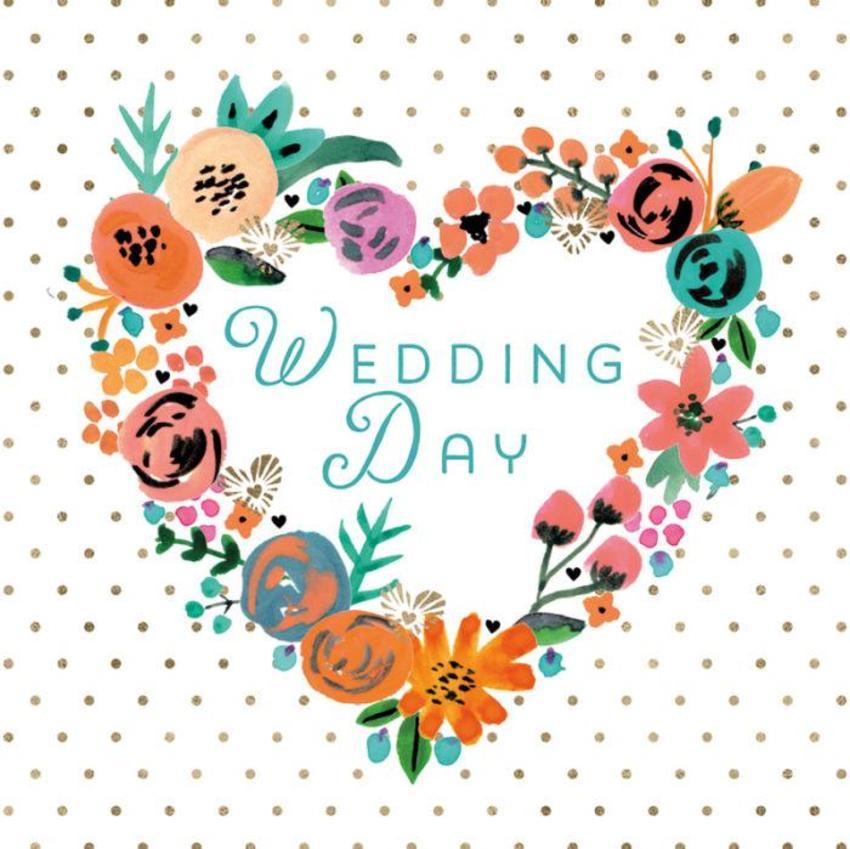 RP Wedding Retro Floral Heart