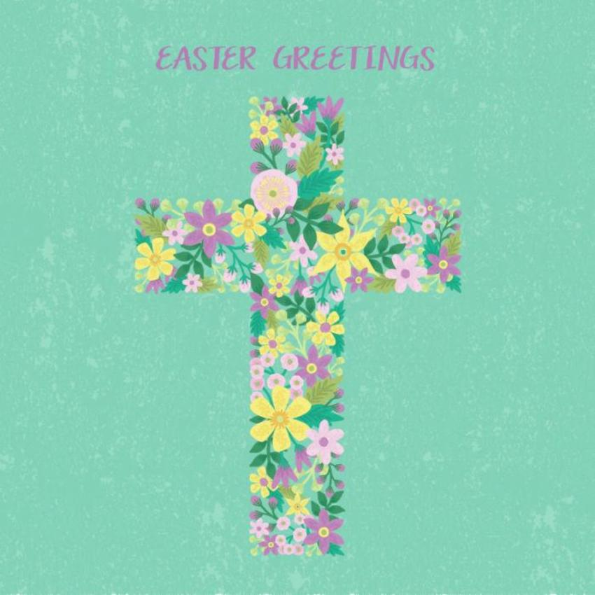 Easter Floral Cross