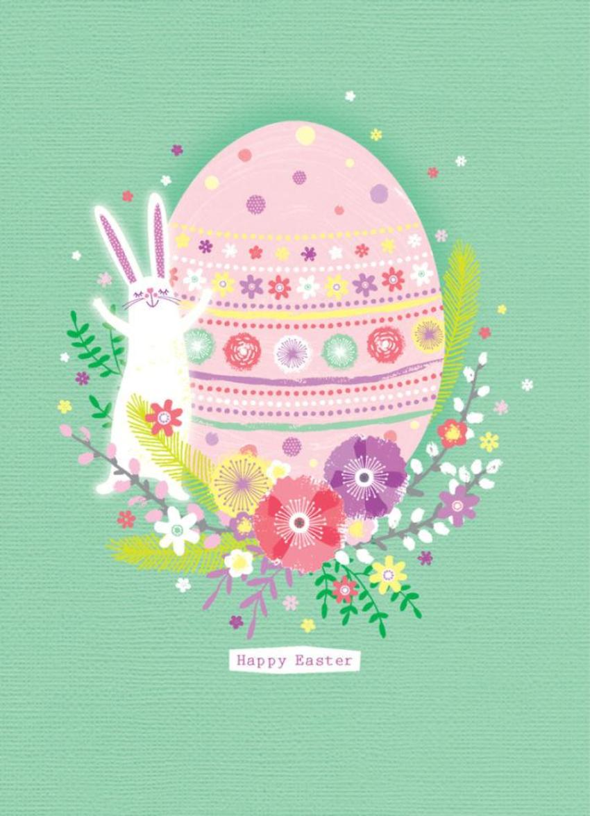 Easter-egg-with-bunny-rabbit-and-flowers-5x7