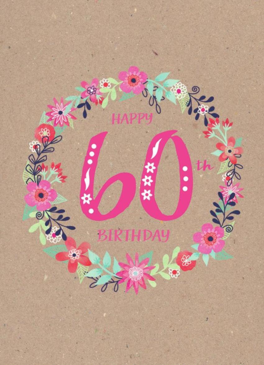 Female 60th Birthday Flowers