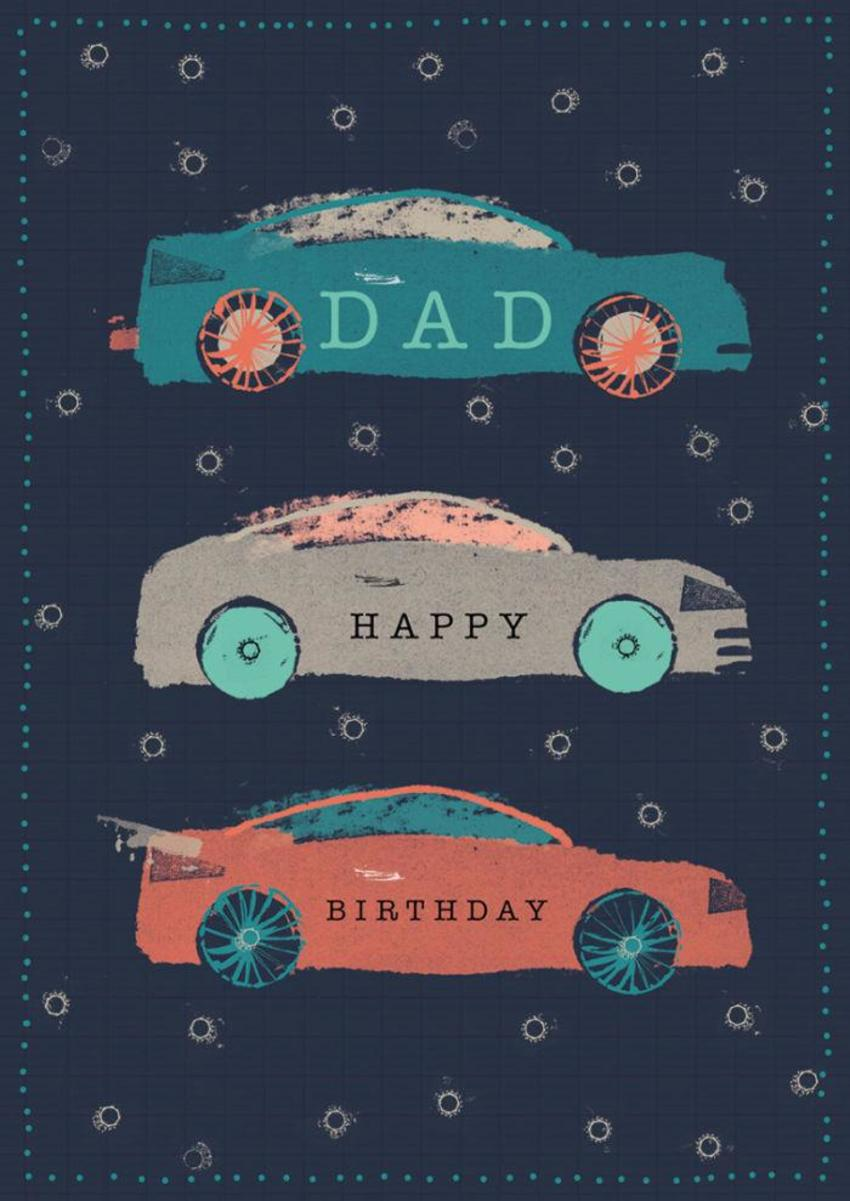 RP Dad Cars Birthday Male