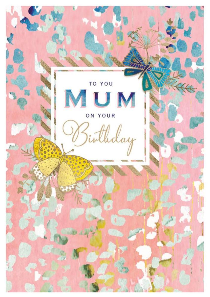 RP Peach Floral Butterflies Mum Birthday