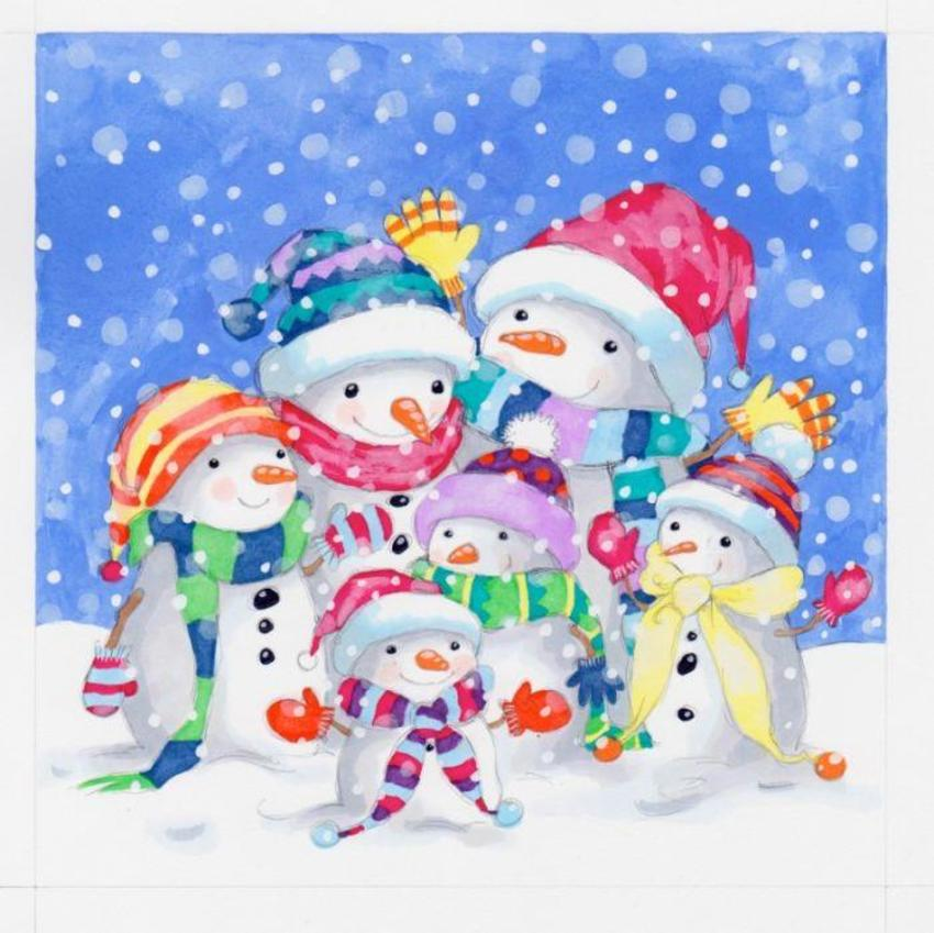 Colourful Snow Family