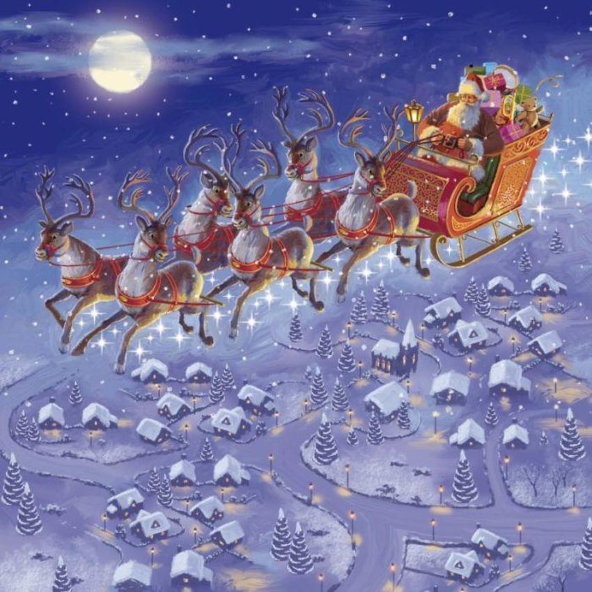 Flying Santa Sleigh Copy