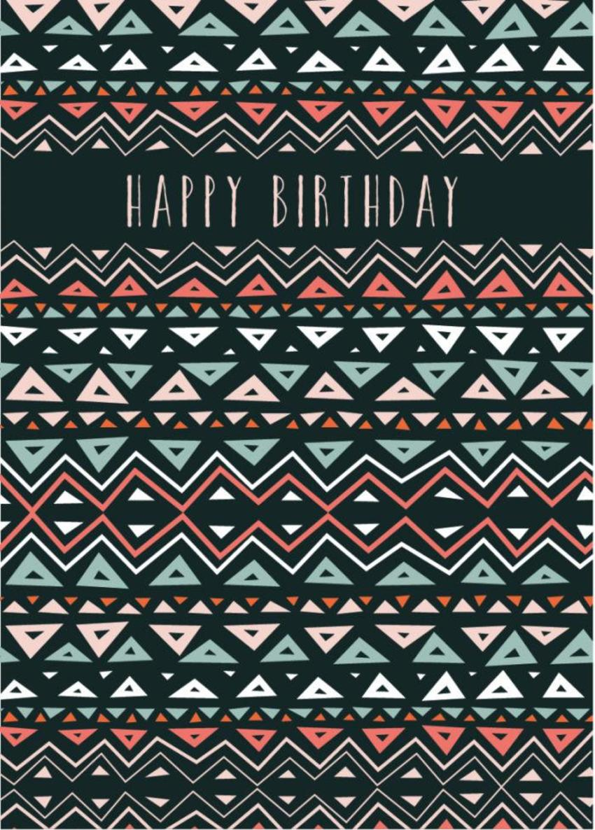 RP Geometric Unisex Birthday Pattern Triangles