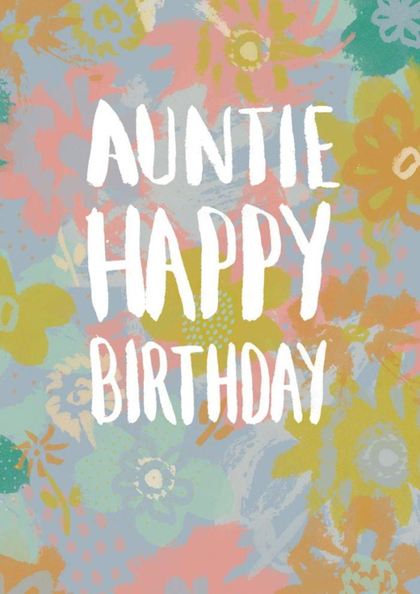 RP Loose Flower Pattern Auntie Birthday