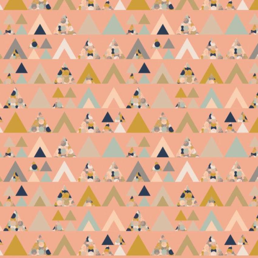 RP Peach Melba3 Pattern Triangles Geometric Wrap