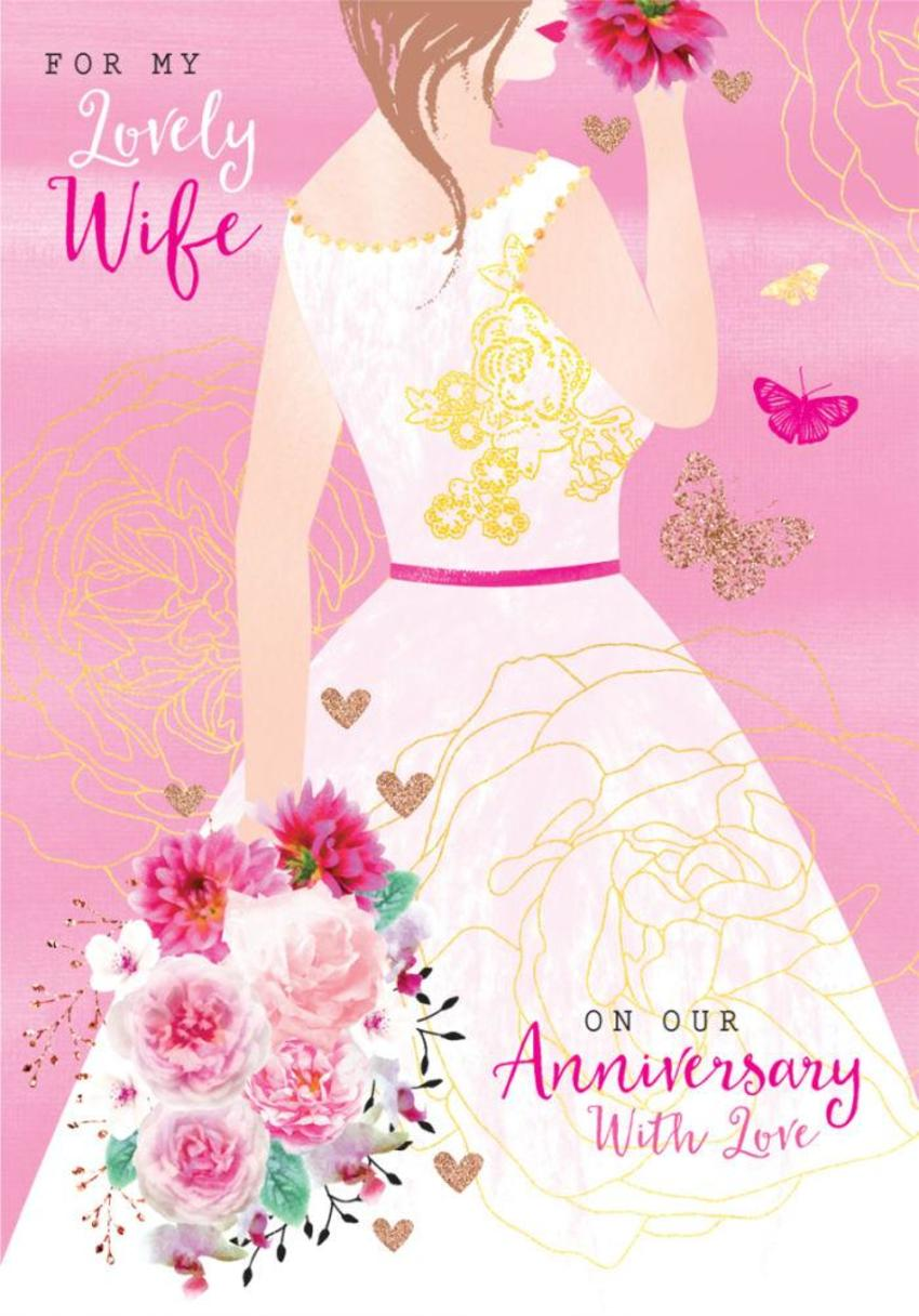 Anniversary-wife-valentines-day-love-lady-in-dress-with-flowers