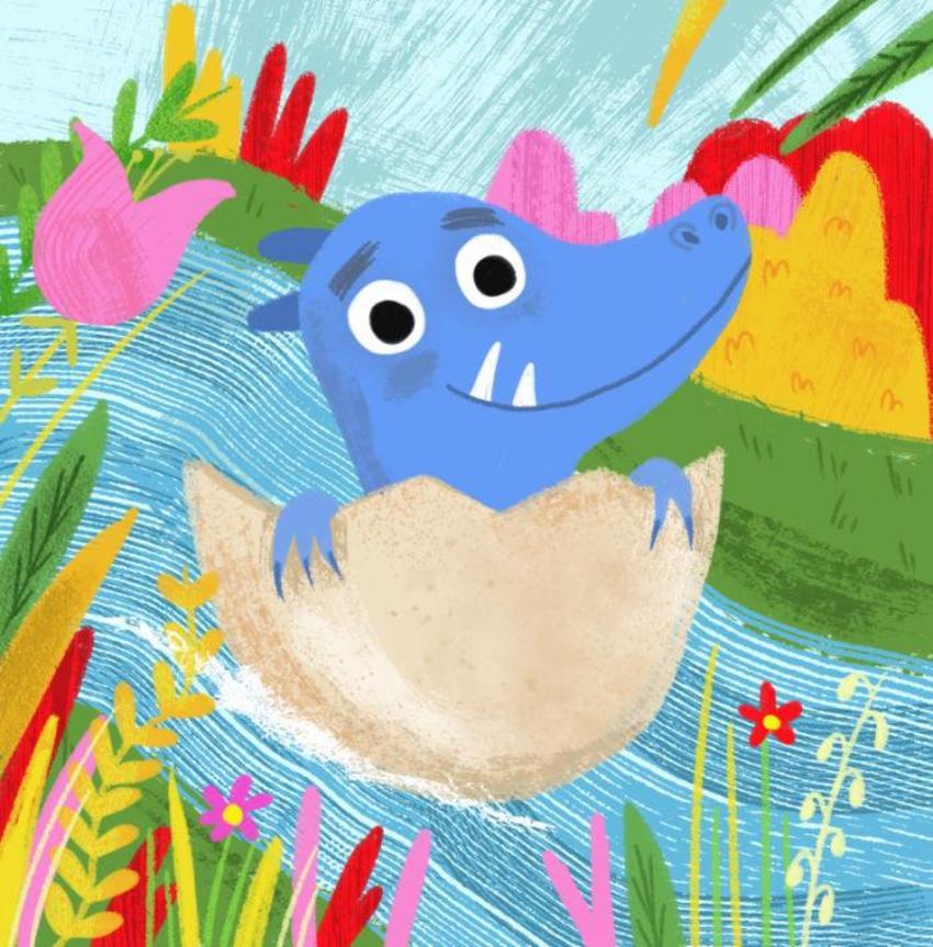 Blue Dinosaur Egg