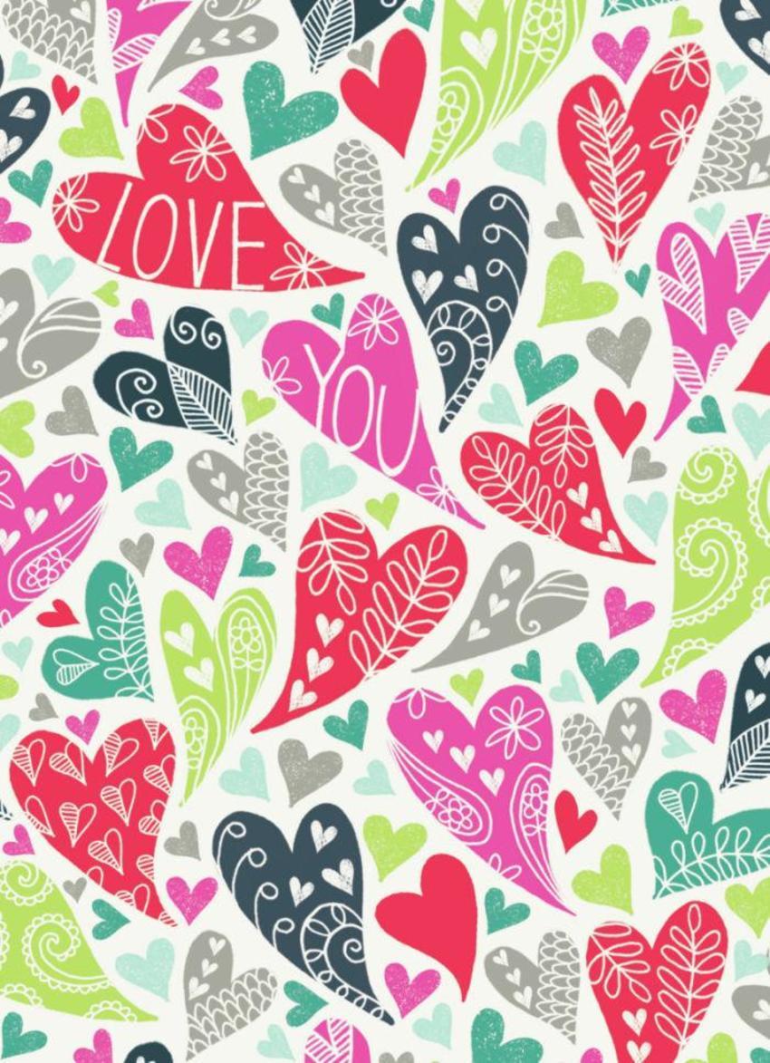 Valentine Bright Love Hearts