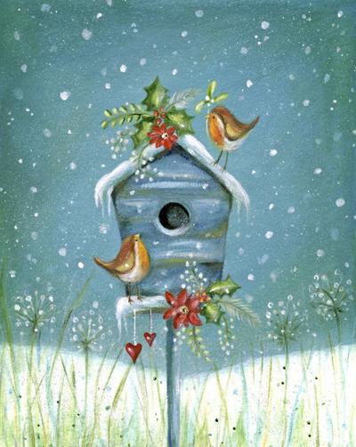 christmas-robin-holly-mistletoe-snow-hearts