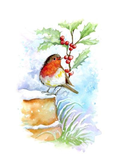 watercolour-birds-robin-on-pot-card-design