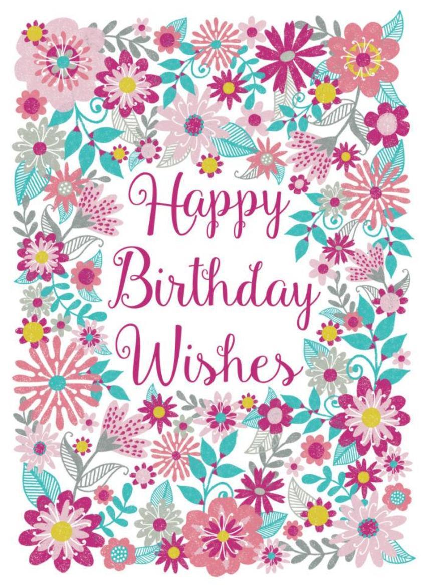 Happy Birthday Wishes Flowers
