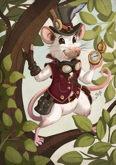 fa-steampunk-rat-by-evamh