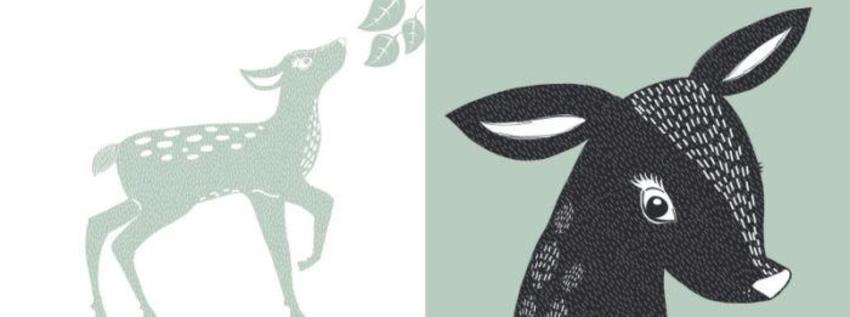 Mono Colour Deer