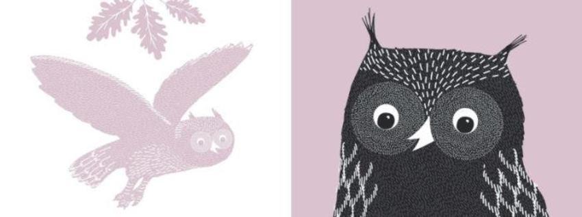 Mono Colour Owl
