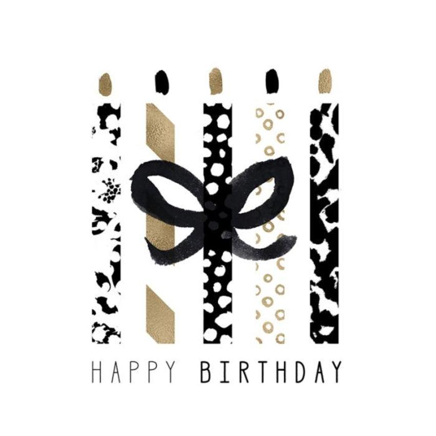 RP Female Birthday Black And Gold Candles